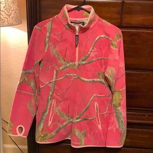Super cute pink camp pullover